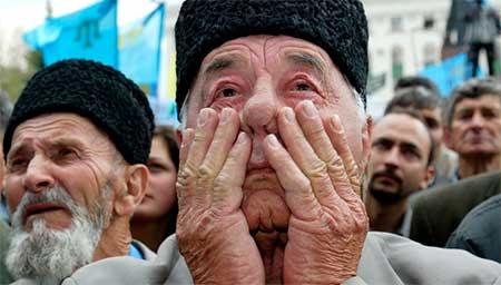 Оккупанты свозят в Крым силовиков и автозаки: запретили использовать на митингах украинские флаги, – Джемилев - Цензор.НЕТ 1867